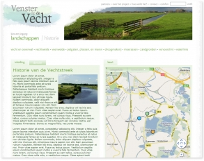 site screenshot - over het project